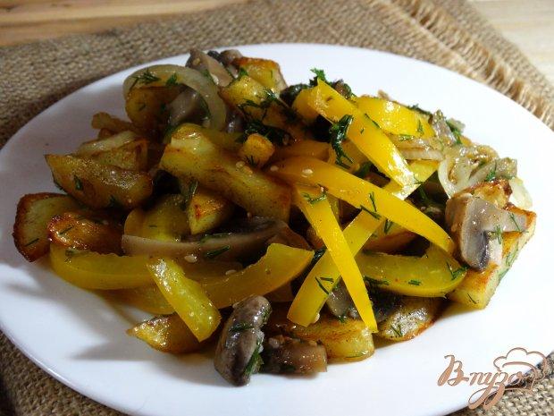 Салат с жареными грибами и картошкой рецепт с