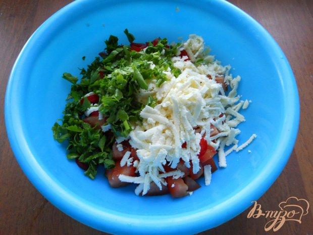 Болгарский салат с брынзой и помидорами