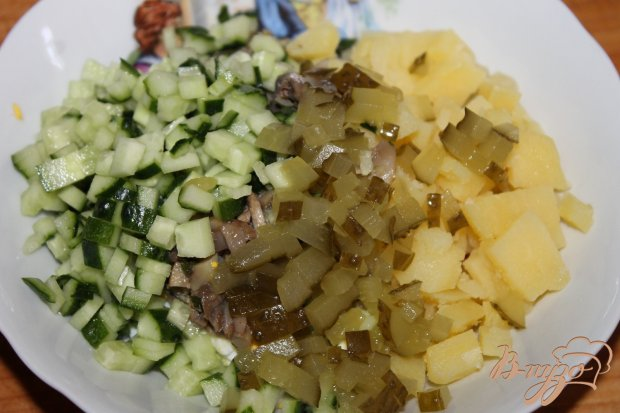 Салат грибы маринованные огурцы маринованные картошка